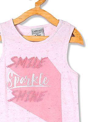 Cherokee Girls Sleeveless Speckle Knit Tank Top