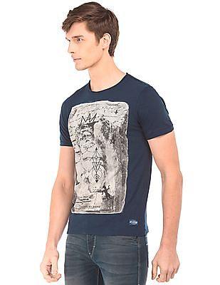 Flying Machine Graphic Print Slim Fit T-Shirt