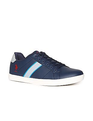 U.S. Polo Assn. Blue Contrast Sole Mid Top Sneakers