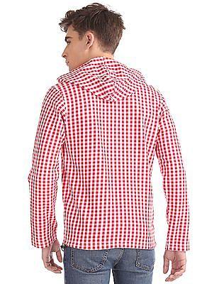 Izod Check Zip-Up Sweatshirt