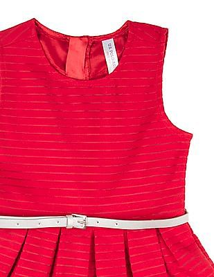 U.S. Polo Assn. Kids Girls Sleeveless Striped Dress