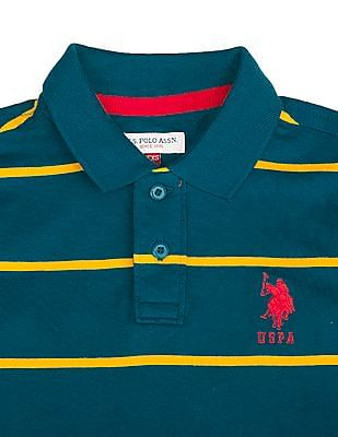 U.S. Polo Assn. Kids Boys Striped Cotton Polo Shirt
