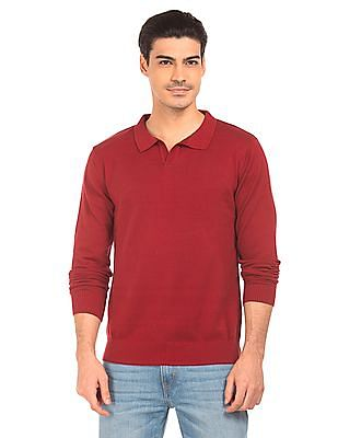 Flying Machine Solid Slim Fit Sweater