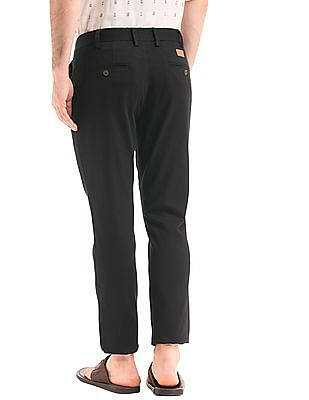 True Blue Tapered Fit Patterned Trousers