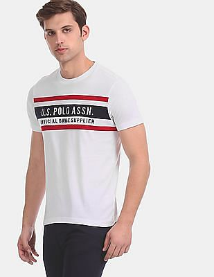 U.S. Polo Assn. White Crew Neck Embroidered T-Shirt