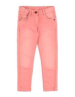 Cherokee Girls Slim Fit Faded Jeans