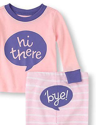 The Children's Place Baby Hello, Goodbye PJ Set