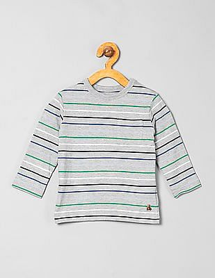 GAP Baby Grey Striped T-Shirt