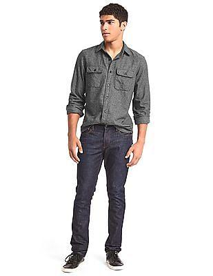GAP Men Grey Jaspe Standard Fit Shirt