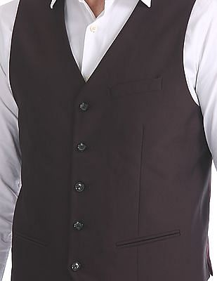 Arrow Peak Lapel Collar Three Piece Suit