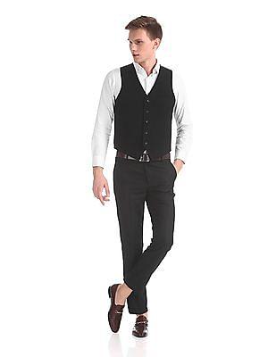 USPA Tailored Super Slim Fit Single Breasted Waist Coat