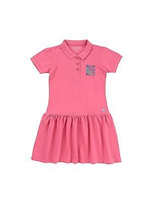 Cherokee Girls Drop Waist T-Shirt Dress