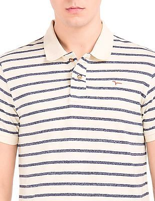 Flying Machine Striped Regular Fit Polo Shirt