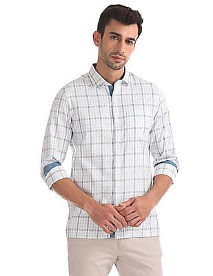 Excalibur Cutaway Collar Patterned Shirt