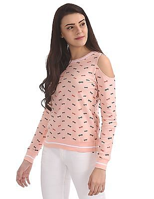 SUGR Cold Shoulder Sweater Top