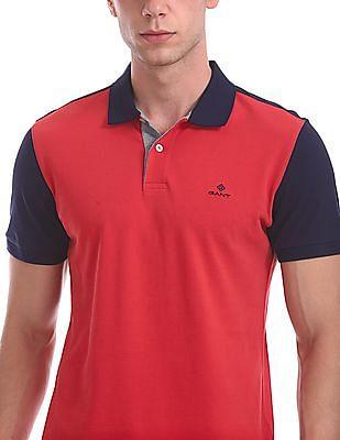 Gant Color Block Pique Short Sleeve Rugger Polo