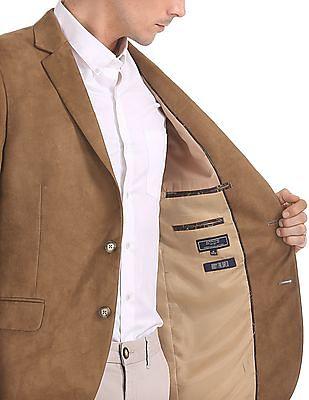 Arrow Body Tailored Regular Fit Velvet Blazer