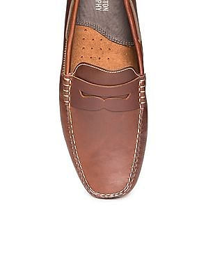 Johnston & Murphy Square Toe Penny Loafers