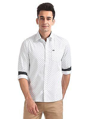 Arrow Sports Slim Fit Printed Shirt