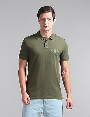 GAP Short Sleeve Solid Polo Shirt