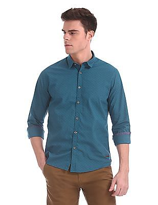 Cherokee Spread Collar Printed Shirt
