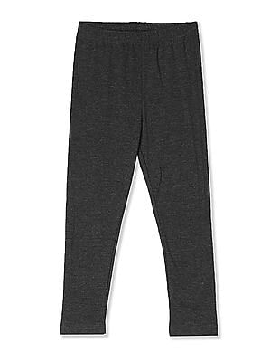 Cherokee Grey Girls Heathered Knit Leggings
