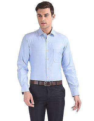 Arrow Regular Fit Patterned Weave Shirt
