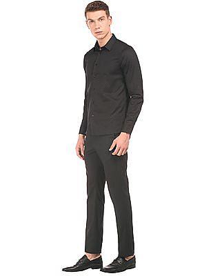 Arrow Newyork Dot Print Slim Fit Shirt