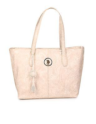 U.S. Polo Assn. Women Floral Textured Hand Bag