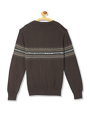 Izod Crew Neck Patterned Sweater
