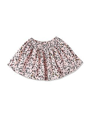 GAP Girls Pink Printed Flippy Skirt