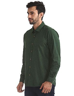 Ruggers Printed Regular Fit Shirt