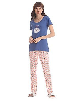 SUGR Assorted T-Shirt And Lounge Pants Set