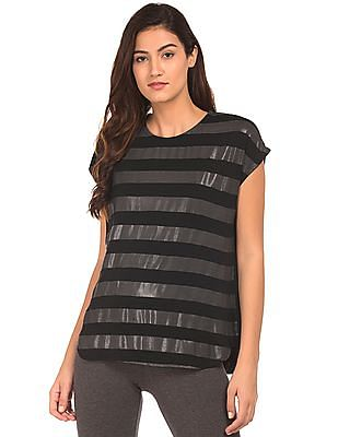 SUGR Striped Front Active Top