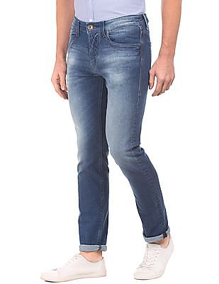 Flying Machine Slim Fit Stone Wash Jeans