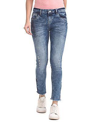 SUGR Slim Fit Distressed Jeans