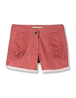 Flying Machine Women Mid Rise Woven Shorts