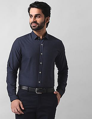 True Blue Slim Fit Heathered Shirt