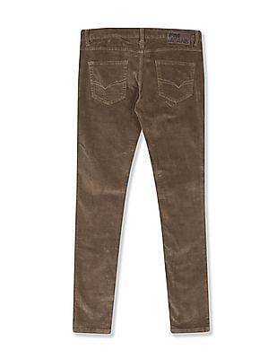 Flying Machine Women Brown Twiggy Super Skinny Fit Corduroy Jeans