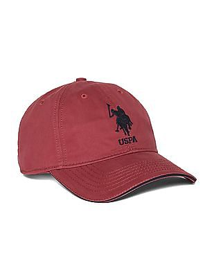 U.S. Polo Assn. Red Brand Embroidered Panelled Cap