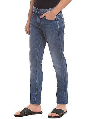 True Blue Slim Fit Washed Jeans
