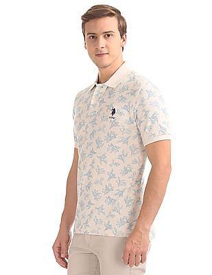 U.S. Polo Assn. Printed Slim Fit Polo Shirt