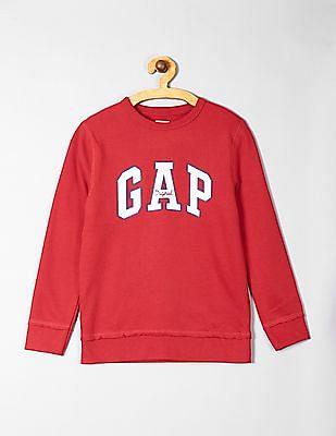 GAP Red Boys Logo Sweatshirt