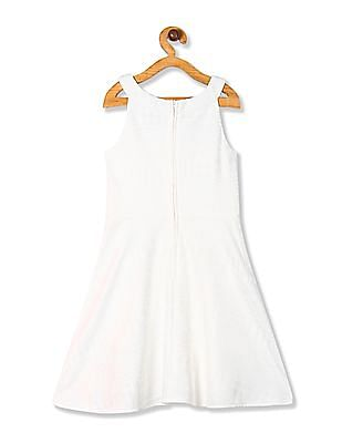The Children's Place White Girls Lace Skater Dress