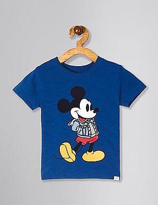 GAP Blue Toddler Boy Mickey Mouse Graphic Slub T-Shirt
