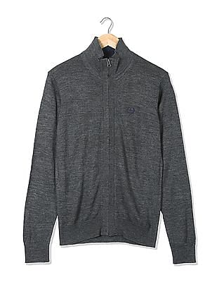 Arrow Sports Zip Up Merino Blend Sweater