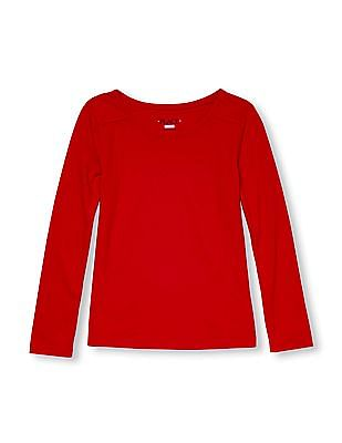 The Children's Place Girls Long Sleeve Solid Layering Top