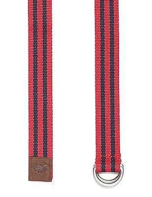 U.S. Polo Assn. Kids Boys Striped  D Loop Belt