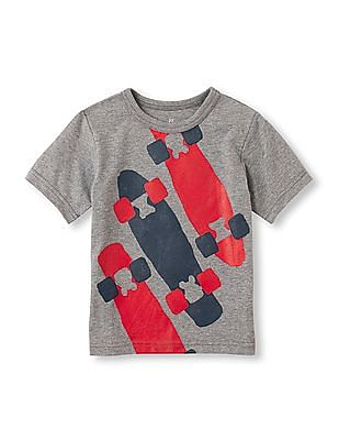 The Children's Place Toddler Boy Grey Short Sleeve Active Sporty Tee
