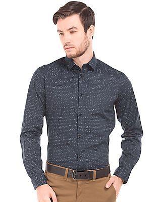 Arrow Newyork Skinny Fit Printed Shirt